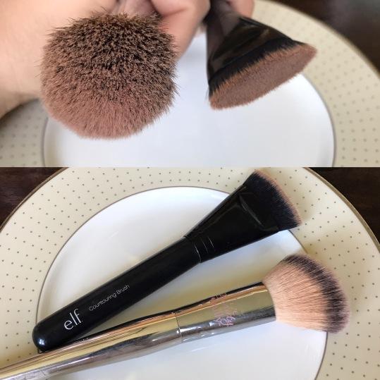 Black: Elf Contouring Brush. Silver: IT Cosmetics Blush Brush